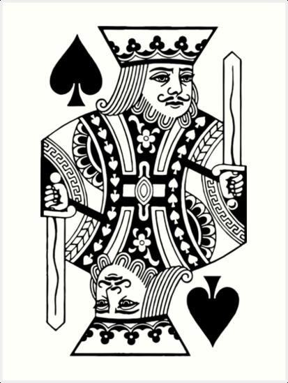 Quot King Of Spades Quot Art Print By Davidayala Redbubble
