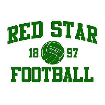Red Star Football Athletic College Style 2 Gray by Toma-51