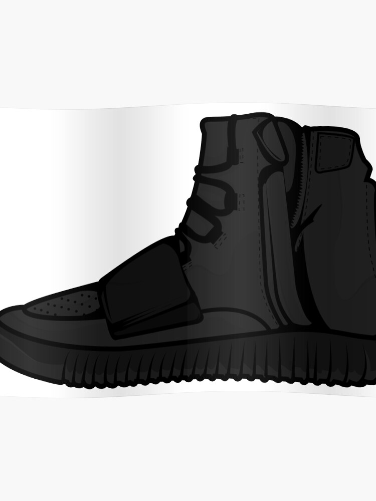 hot sale online 41a57 99244 Yeezy 750 Boost Black | Poster
