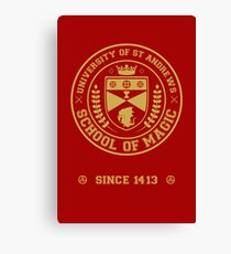University of St Andrews School of Magic ver 2.0 Canvas Print