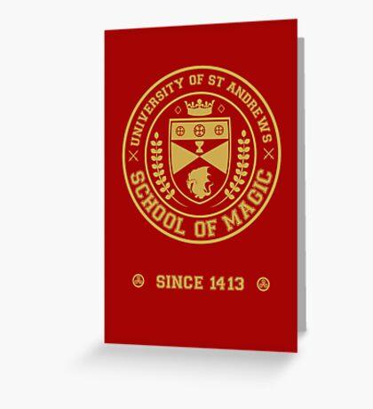 University of St Andrews School of Magic ver 2.0 Greeting Card