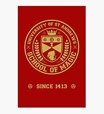 University of St Andrews School of Magic ver 2.0 Photographic Print