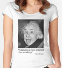 Imagination is more important than knowledge. Women's Fitted Scoop T-Shirt