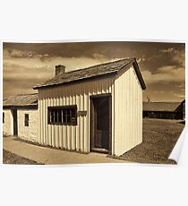 One-Room School House - Ft. Bridger 1880 Poster