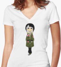Mod Girl Women's Fitted V-Neck T-Shirt