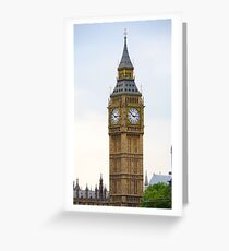 Big Ben, famous London tourist attraction Greeting Card
