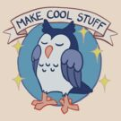 Make Cool Stuff owl emblem by Veronica Guzzardi