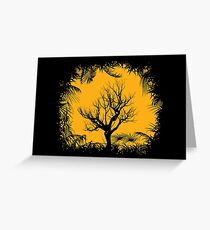 Tree Clearing Greeting Card