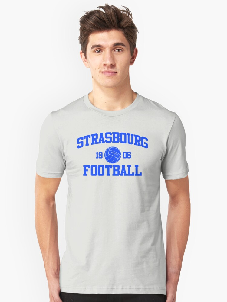 Strasbourg Football Athletic College Style 2 Gray Unisex T-Shirt Front