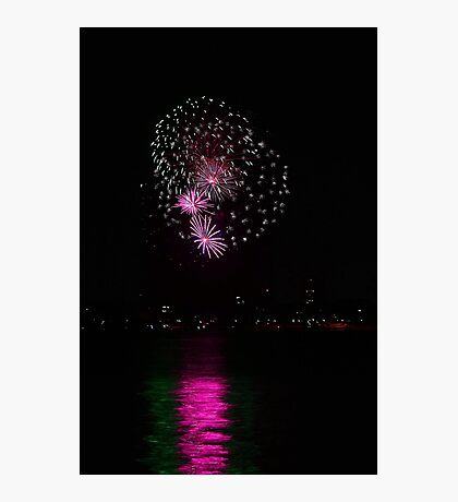 New Years Eve Fireworks 2014 Photographic Print