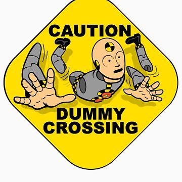 Crash Test Dummies - Caution Dummy Crossing - Gray Dummy by DGArt