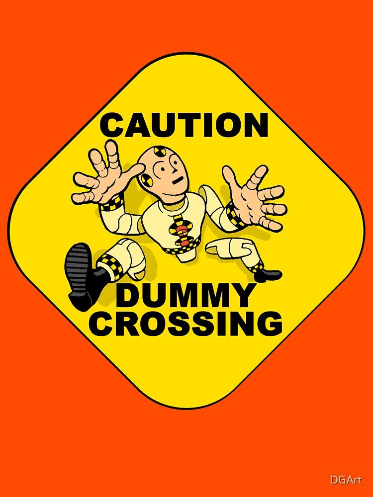 Crash Test Dummies - Caution Dummy Crossing - Yellow Dummy by DGArt