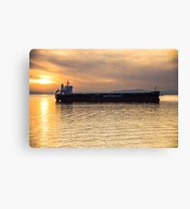 Sunset Freighter Canvas Print