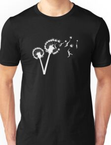 Dandylion Flight - white silhouette Unisex T-Shirt