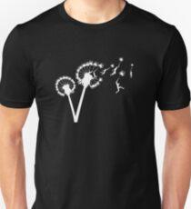 Dandylion Flug - weiße Silhouette Unisex T-Shirt