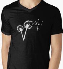 Dandylion Flight - white silhouette Men's V-Neck T-Shirt