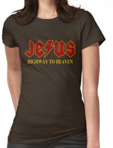 Jesus - Highway to Heaven Womens Fitted T-Shirt