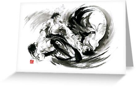 Aikido randori fight popular techniques martial arts sumi e samurai aikido randori fight popular techniques martial arts sumi e samurai ink painting artwork by mariusz m4hsunfo