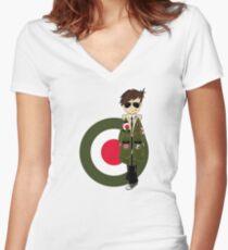 Mod Boy Women's Fitted V-Neck T-Shirt