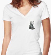 kaws 1 Women's Fitted V-Neck T-Shirt