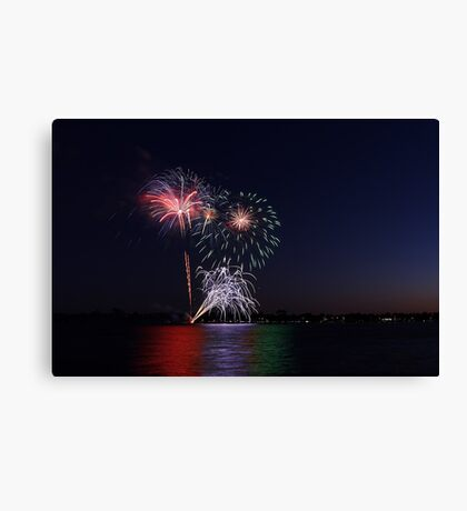New Year Day Fireworks 2014  Canvas Print