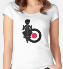 Mod Boy & Retro Scooter Women's Fitted Scoop T-Shirt