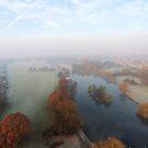 Harrowlodge Park in the mist 1 by Peter Barrett