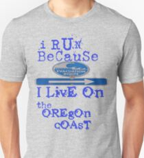 running on the Oregon Coast Unisex T-Shirt