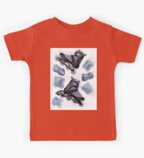 Inline skates and protective gear dynamic still life T-shirt design Kids Tee
