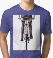 Sexy Woman Riding a Bike T-shirt design Tri-blend T-Shirt