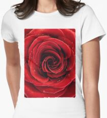 Beautiful Red Rose T-shirt design Womens Fitted T-Shirt