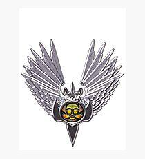 Skull Wings Photographic Print