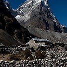 Stone House - Foothills of Everest.  by Mark Poulton