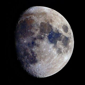 Gibbous Moon in saturated colour by DuncanW