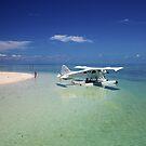 Sea Plane - Heron Island - Australia by Anthony Wilson