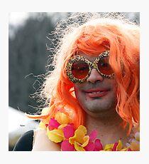 Portrait in Redhead Drag  Photographic Print