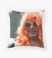 Portrait in Redhead Drag  Throw Pillow