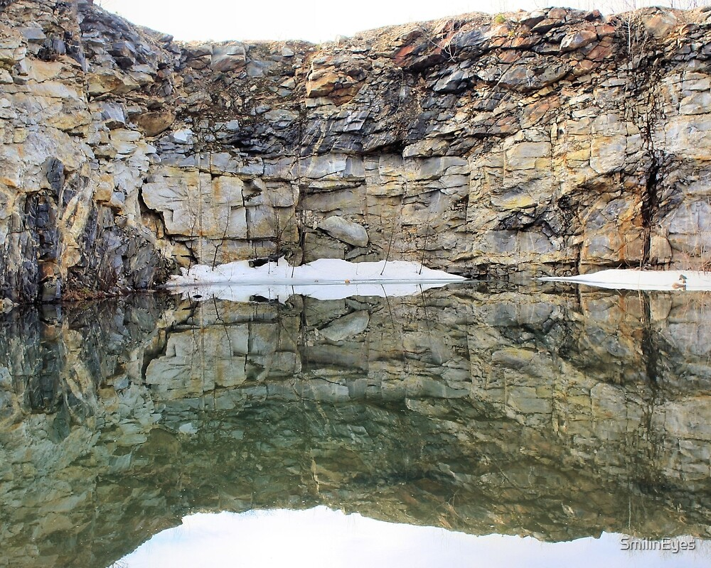 Rock Quarry Wall Reflections #1 by SmilinEyes