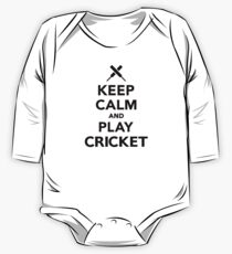 Keep calm and play Cricket One Piece - Long Sleeve