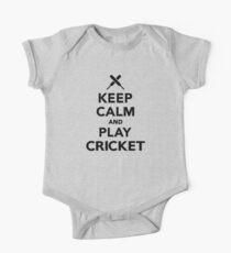 Keep calm and play Cricket One Piece - Short Sleeve
