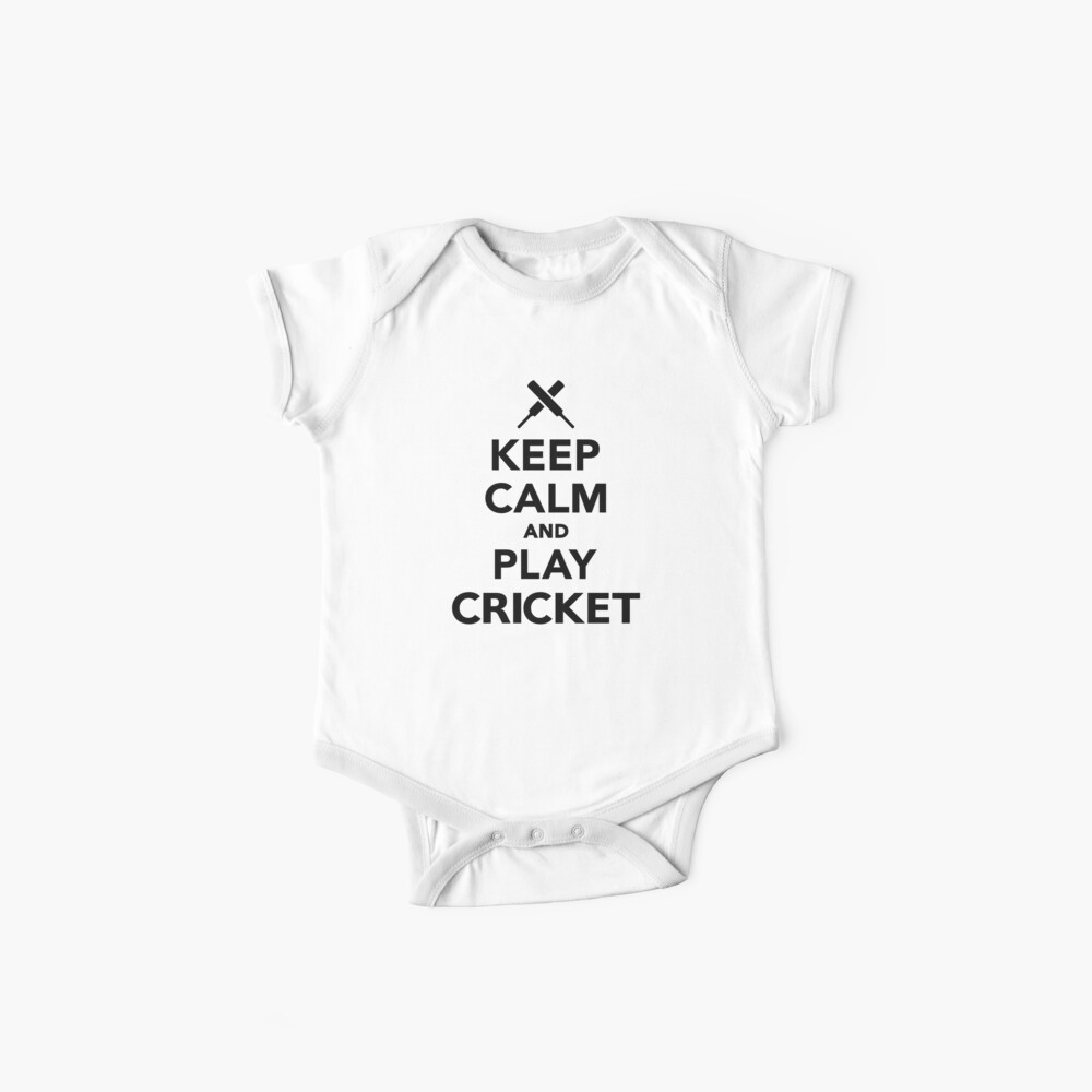 Keep calm and play Cricket Baby One-Piece