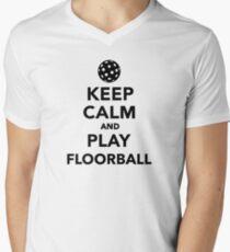 Keep calm and play Floorball Mens V-Neck T-Shirt