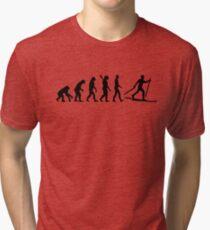 Evolution Cross country skiing Tri-blend T-Shirt