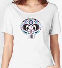 Mexican 'Day of the Dead' Pattern Women's Relaxed Fit T-Shirt