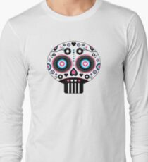 Mexican 'Day of the Dead' Skull Pattern Long Sleeve T-Shirt