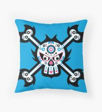 Mexican 'Day of the Dead' Skull Throw Pillow