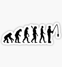 Evolution fishing Sticker