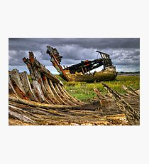 Fleetwood Marsh Wreck Photographic Print