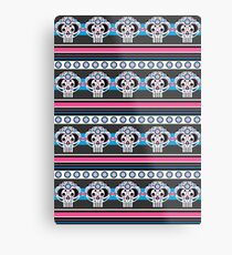 Mexican 'Day of the Dead' Skull Stripe Metal Print