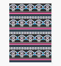 Mexican 'Day of the Dead' Skull Stripe Photographic Print
